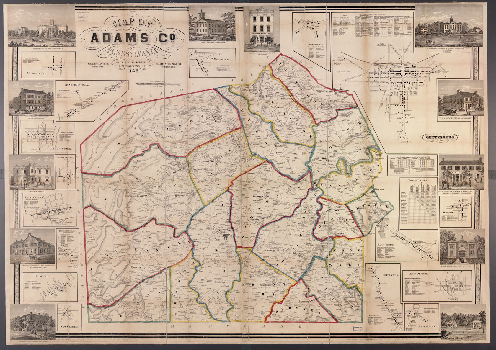 Ancestor Tracks: Adams County Atlas, 1858 on map of new paris pa, map of loganville pa, map of shamokin dam pa, map of upper st clair pa, map of throop pa, map of narberth pa, map of berkshire pa, map of wilburton pa, map of lawrence park pa, map of newry pa, map of point marion pa, map of saint marys pa, map of mahaffey pa, map of schellsburg pa, map of mount union pa, map of armagh pa, map of russellton pa, map of madison pa, map of norwood pa, map of spring mills pa,