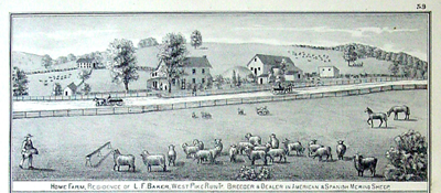 Illustration of L. F. Baker's Farm