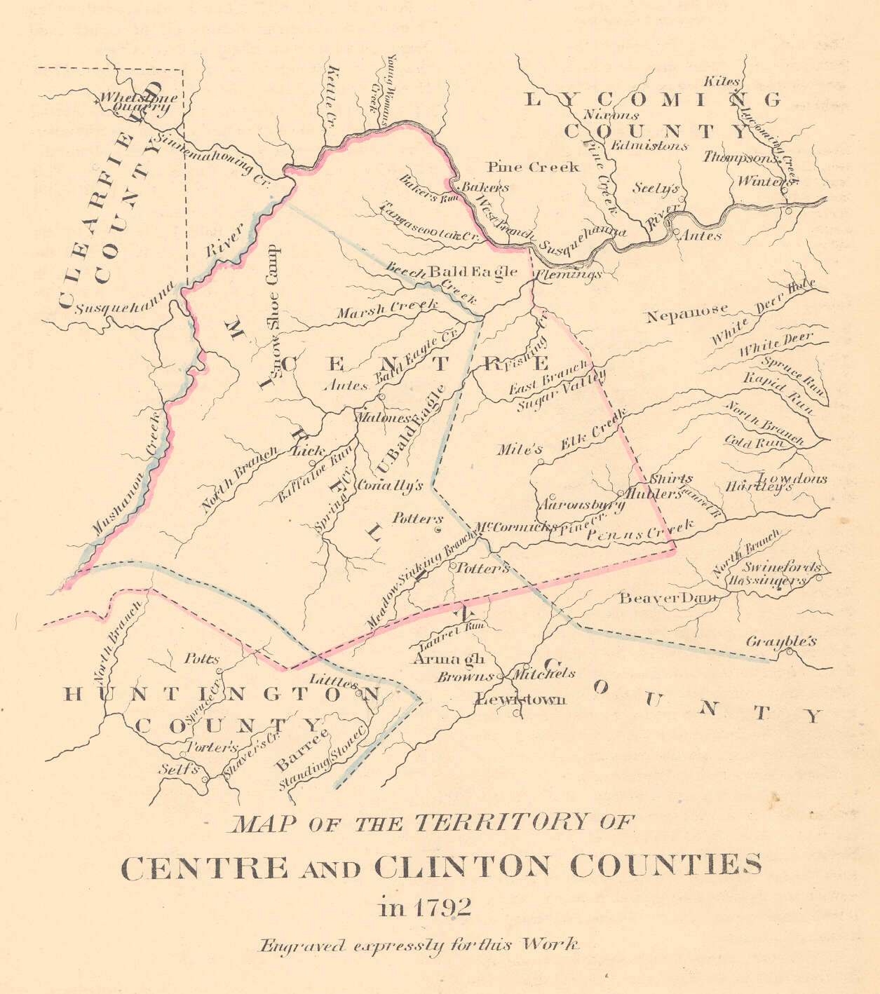 Centre & Clinton Counties, 1792