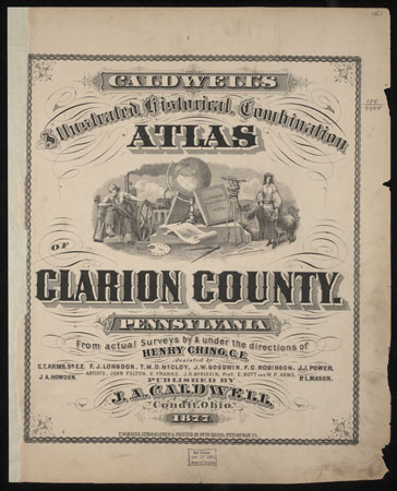 1877 Atlas of Clarion County History Genealogy Maps Book CD Pennsylvania