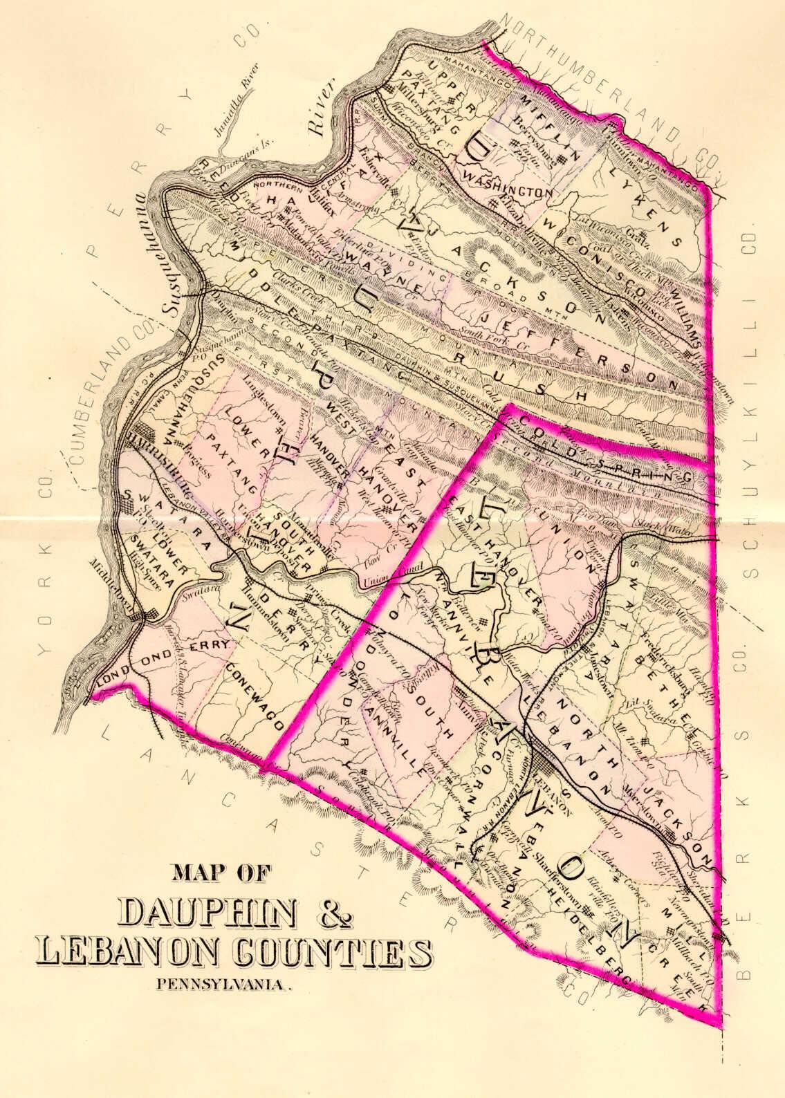 Early Landowners Of Dauphin County - Dauphin county on us map