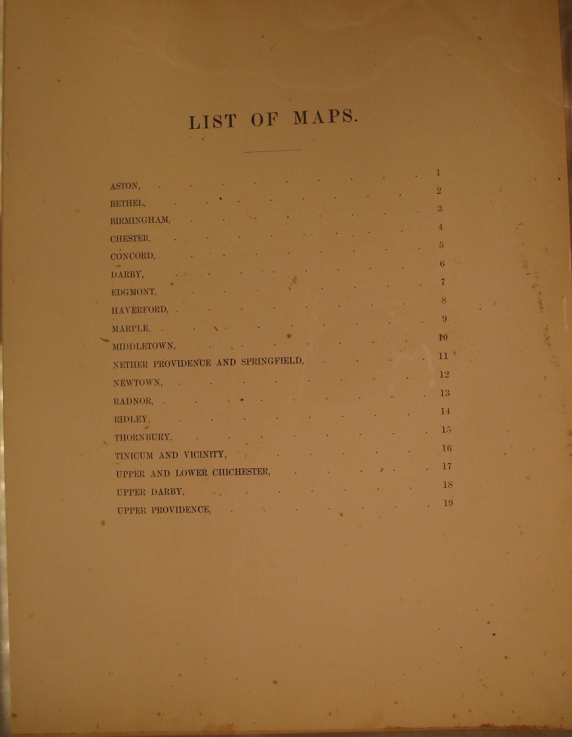Title Page Delaware County Warrantee Atlas