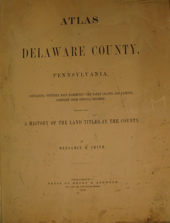 List of Maps Delaware County Warrantee Atlas