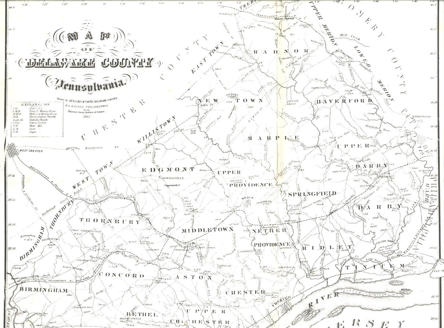 Delaware County Warrantee Atlas on
