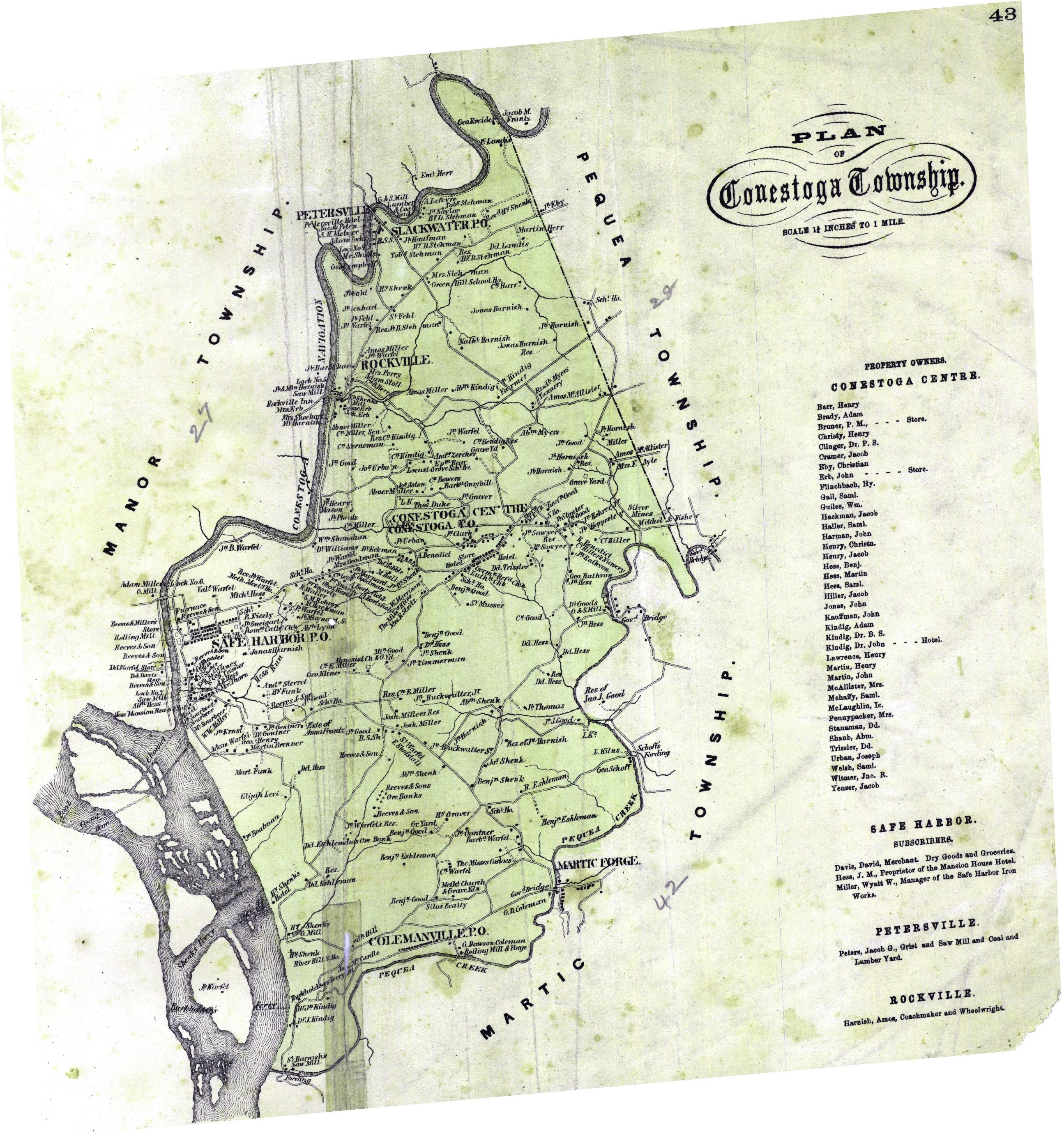 History Book on CD Pennsylvania 1864 Atlas Maps of Lancaster County