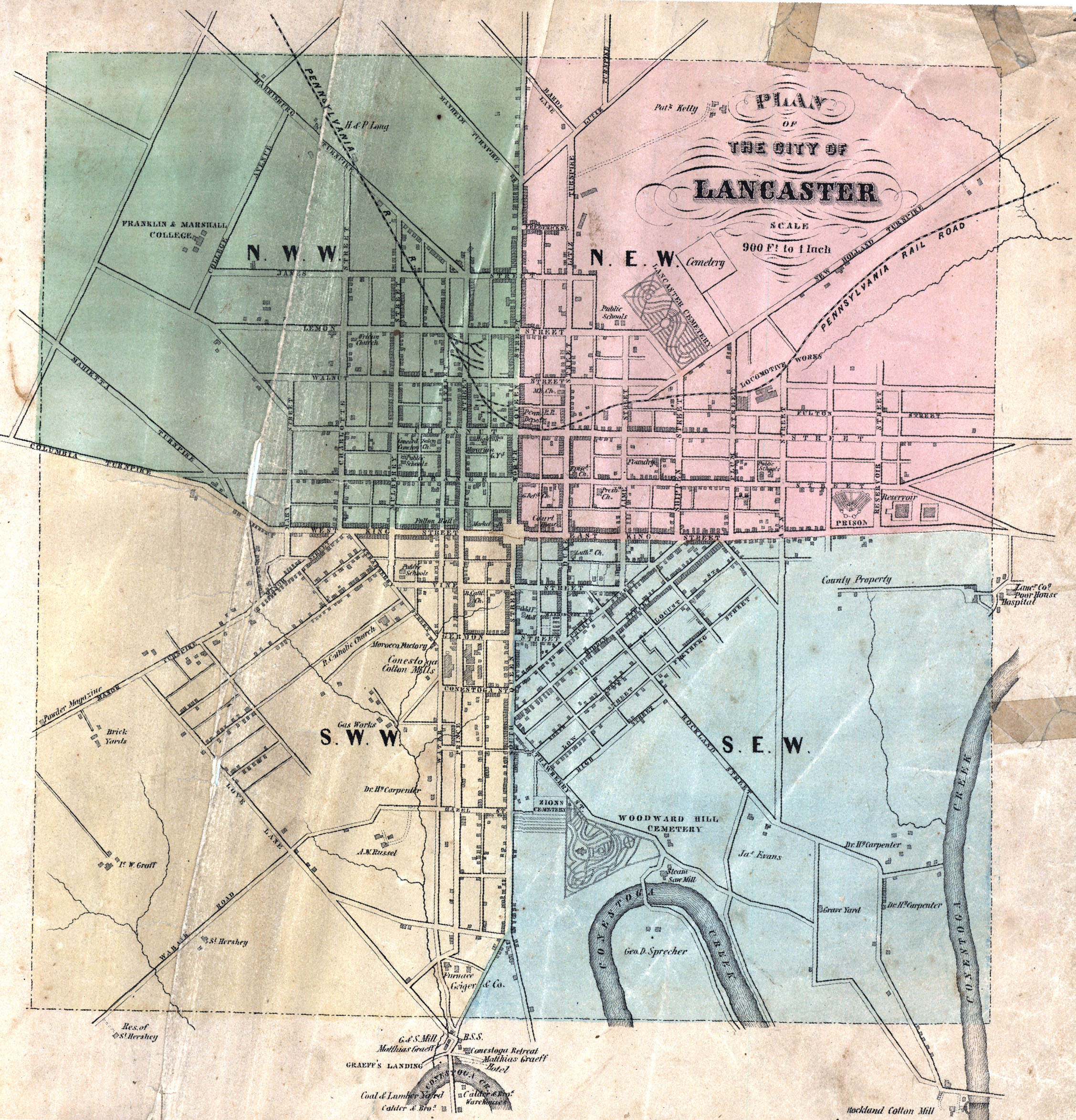 Kansas atchison county lancaster - Early Landowners Of Lancaster County Lancaster Usa Map