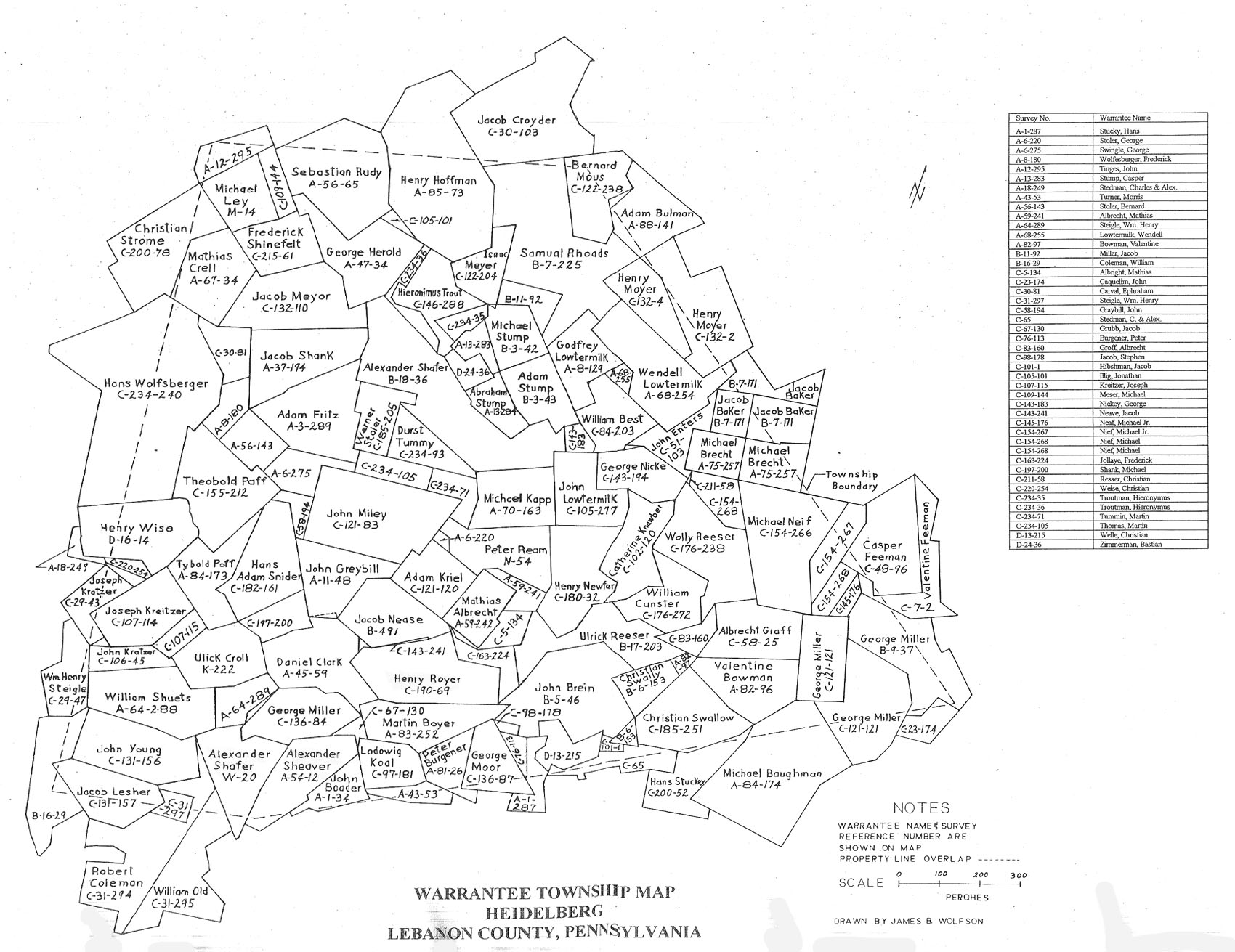 Heidelberg Twp., Lebanon Co. Map by James Wolfson