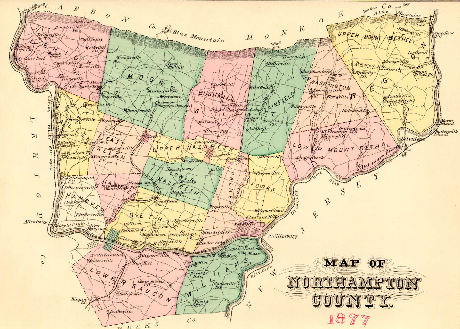 Ancestor Tracks: Northampton County Landowner Map, 1860