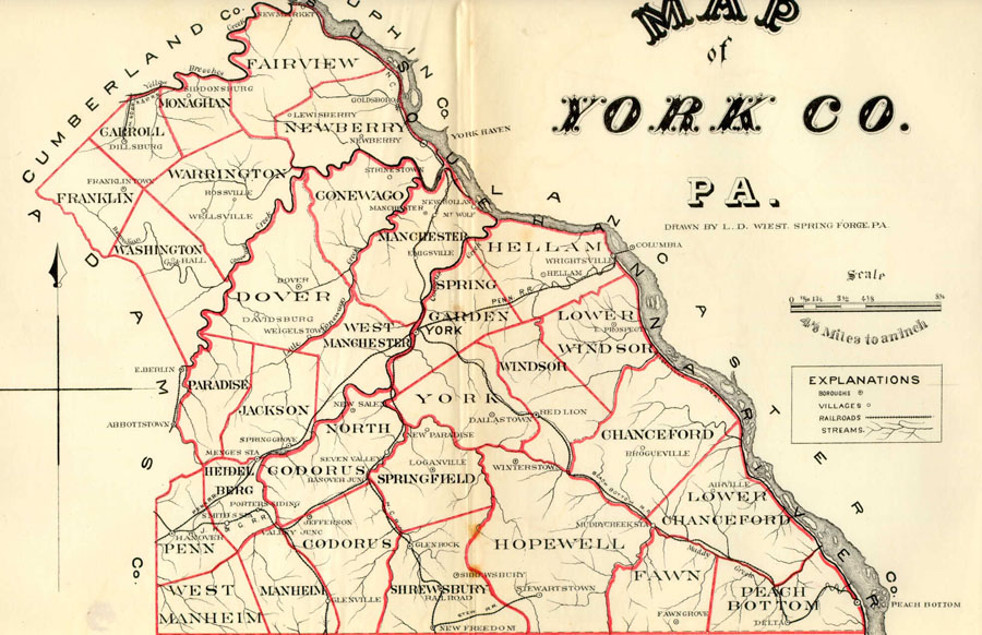 York County Landowner Resources - Map of pa towns