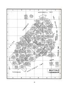 Buffalo Twp., Washington Co. Warrantee Map with grid