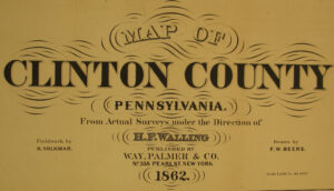 Landowner Map of Clinton County, 1862