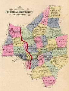 OutlineMap,Columbia-MontourCounties,Battle1887